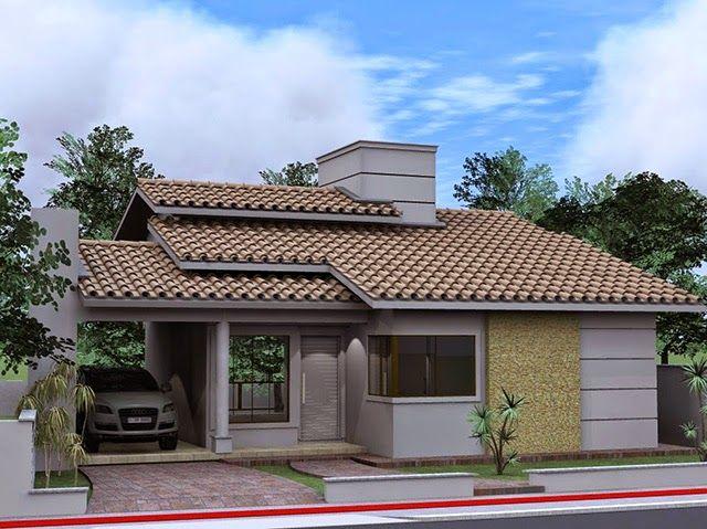 Fachadas para casas pequenas - Apê em Decoração