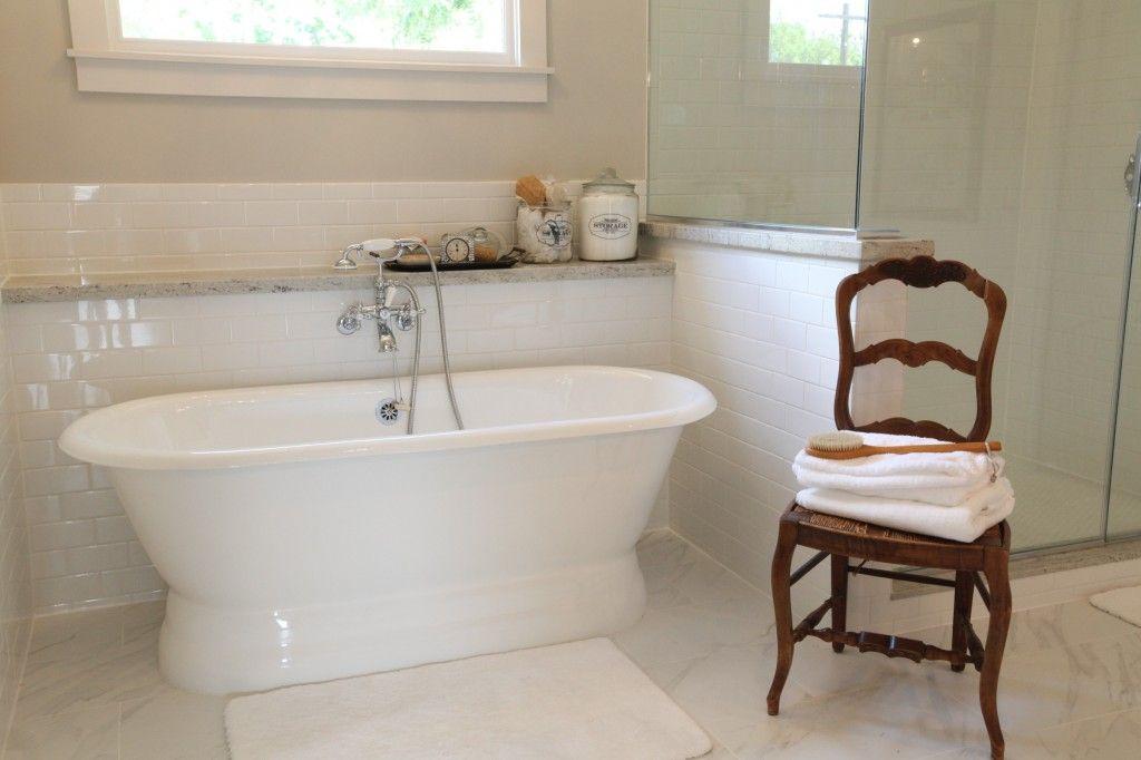 City House Tour Cedar Hill Farmhouse French Country Bathroom Free Standing Tub Free Standing Bath Tub