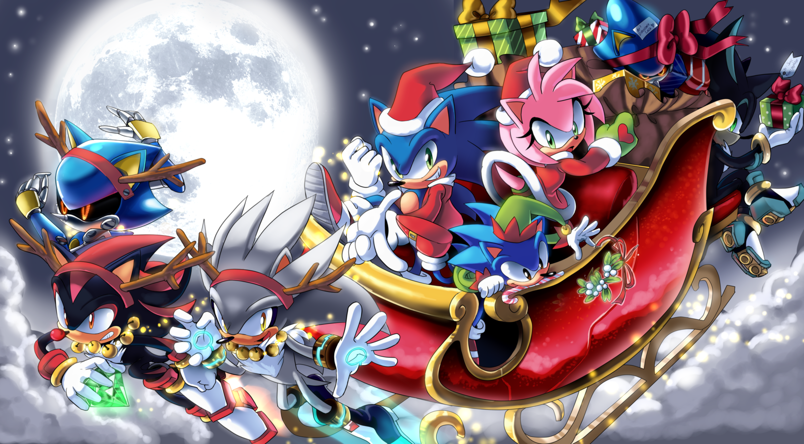 Sonic Christmas.Merry Christmas Sonic The Hedgehog By Drawloverlala