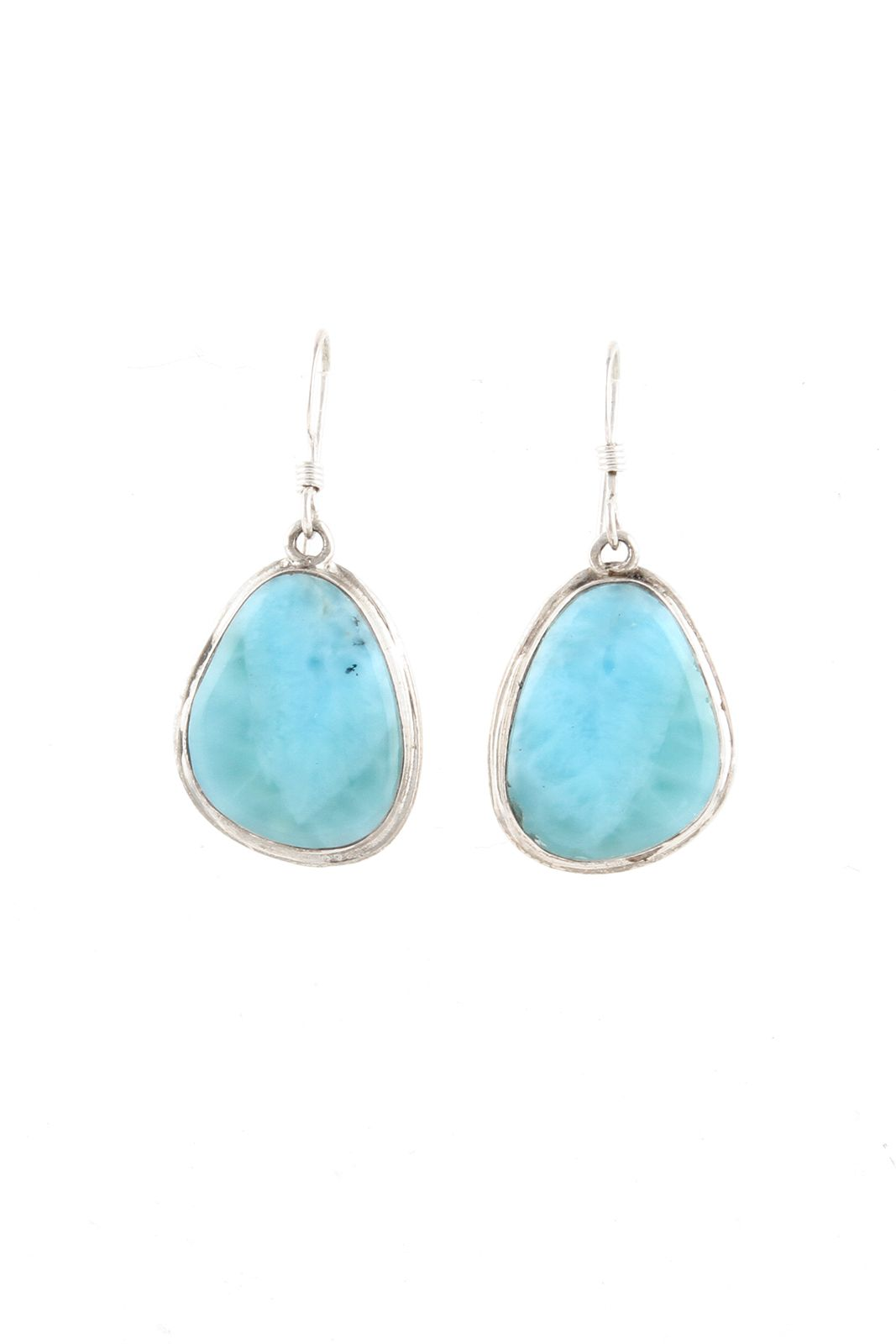 Navajo Sterling Silver Larimar Earrings | Dominican republic ...