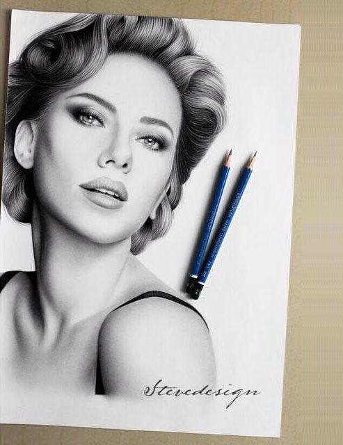pencil sketch woman