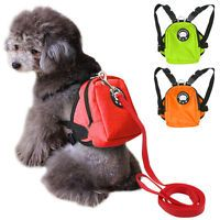 Cute School Bag Small Dog Backpack Food Snack Dog Harness Bag With