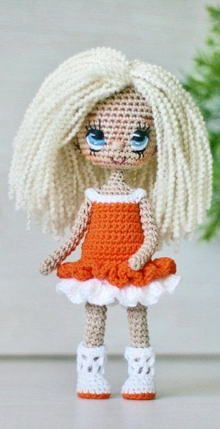 30 Amigurumi Crochet Doll Toys Free Patterns | Poupées en crochet ... | 621x319