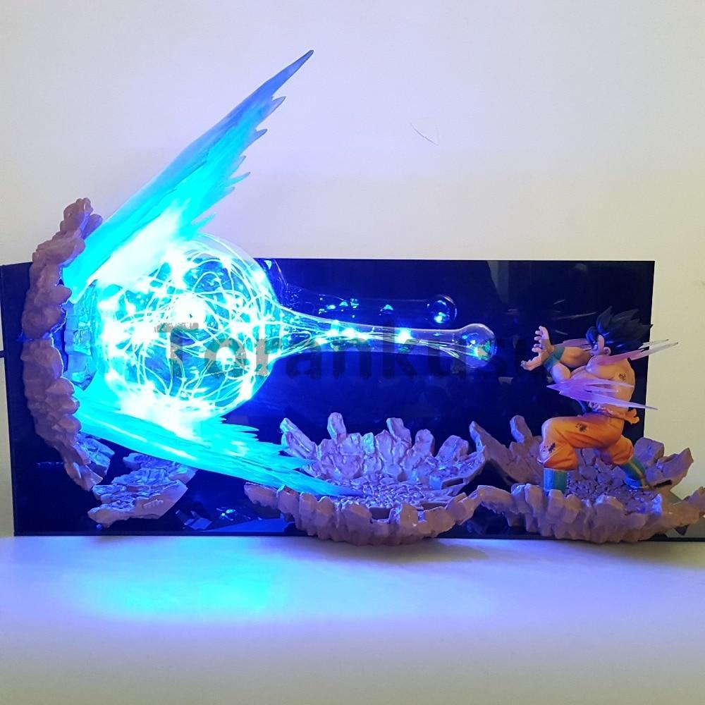 Dragon Ball Z Action Figure Model Son Goku Kamehameha Led Explosion Dragon Ball Z Anime Dragon Ball Dragon Ball Art