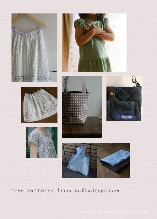 Free Japanese Sewing Patterns Polka Drops Japanese Sewing
