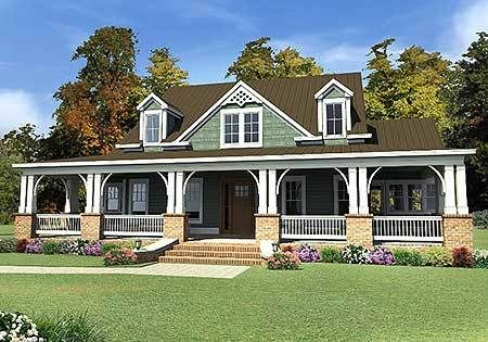 Plan 86214hh 3 Beds 2 Porches And 1 Studio Ranch House