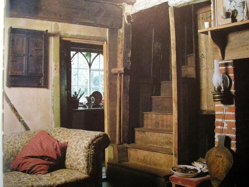 Small English Tudor Interior Cottage Hearth What A