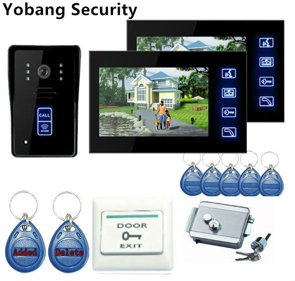 Yobang Security Freeship 7 Home Improvement Video Doorphone Door Phone Doorbell Video Intercom Night Visio Video Door Phone Doorbell Intercom Door Lock System