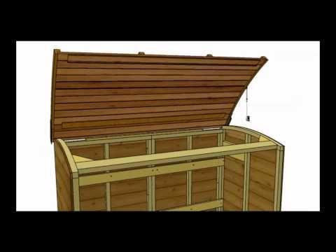 Kliko Ombouw Maken Steigerhout Kast Voor Gft Containers In