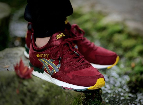 asics gel lyte v x the good will out (bordeaux yellow)