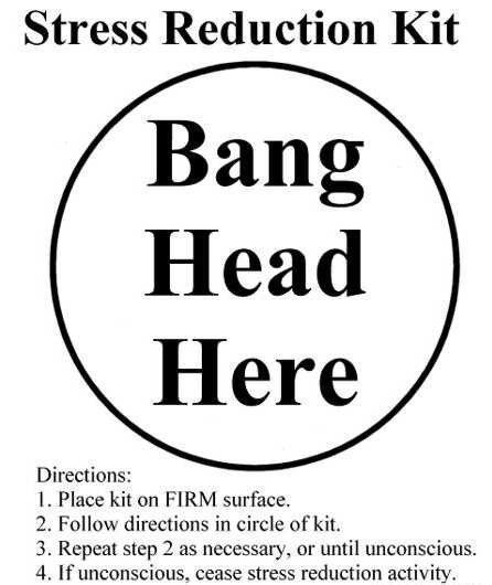 Office Humor Instant Stress Relief Printable Stress Humor