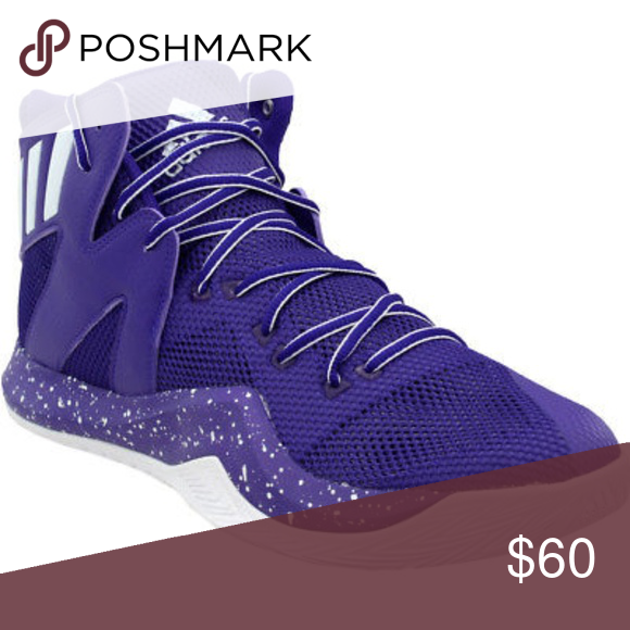 9e3240bd1e0e3 NEW Adidas Purple Crazy Bounce Basketball Shoes 19 NEW Adidas Purple Crazy  Bounce Basketball Sneakers Shoes Men s Size  19 USA - 18 UK new without the  box.