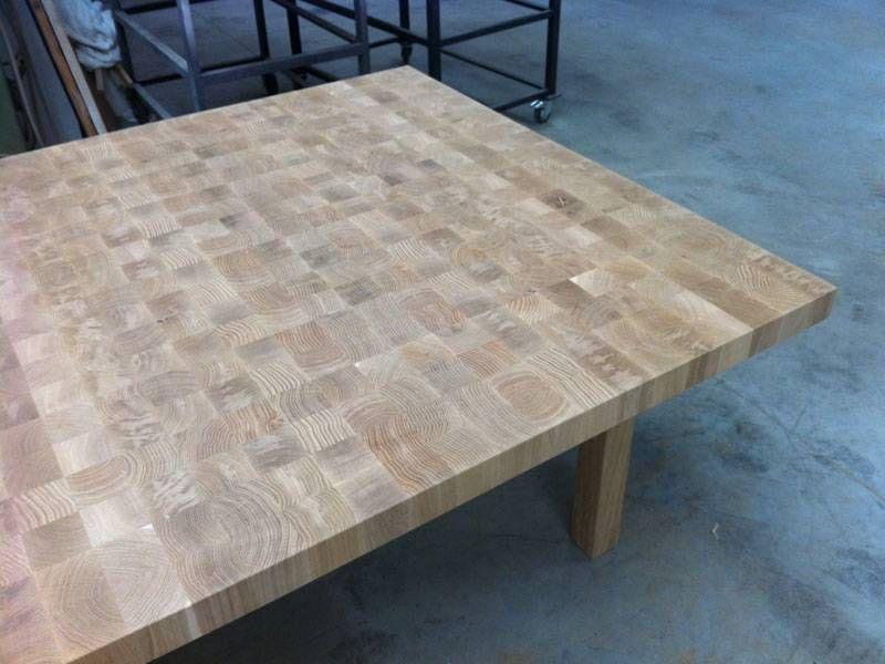 10x Vierkante Eettafel : Vierkante eettafel eikenhout nog onbehandeld project