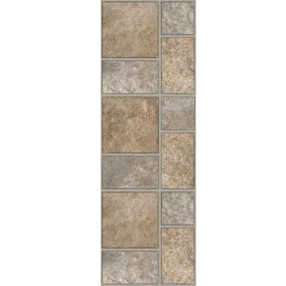 Trafficmaster Allure 12 In X 36 In Yukon Tan Resilient Vinyl Tile Flooring 24 Sq Ft Case 212016 At The Home Depot Vinyl Tile Flooring Luxury Vinyl Tile Flooring Vinyl Plank Flooring