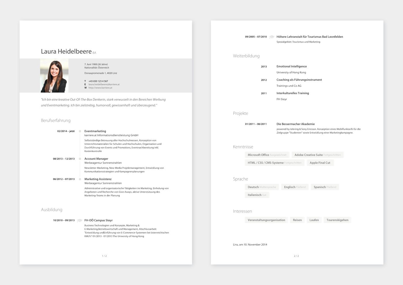 Charmant Lebenslauf Karriere Beispiele Galerie - Entry Level Resume ...