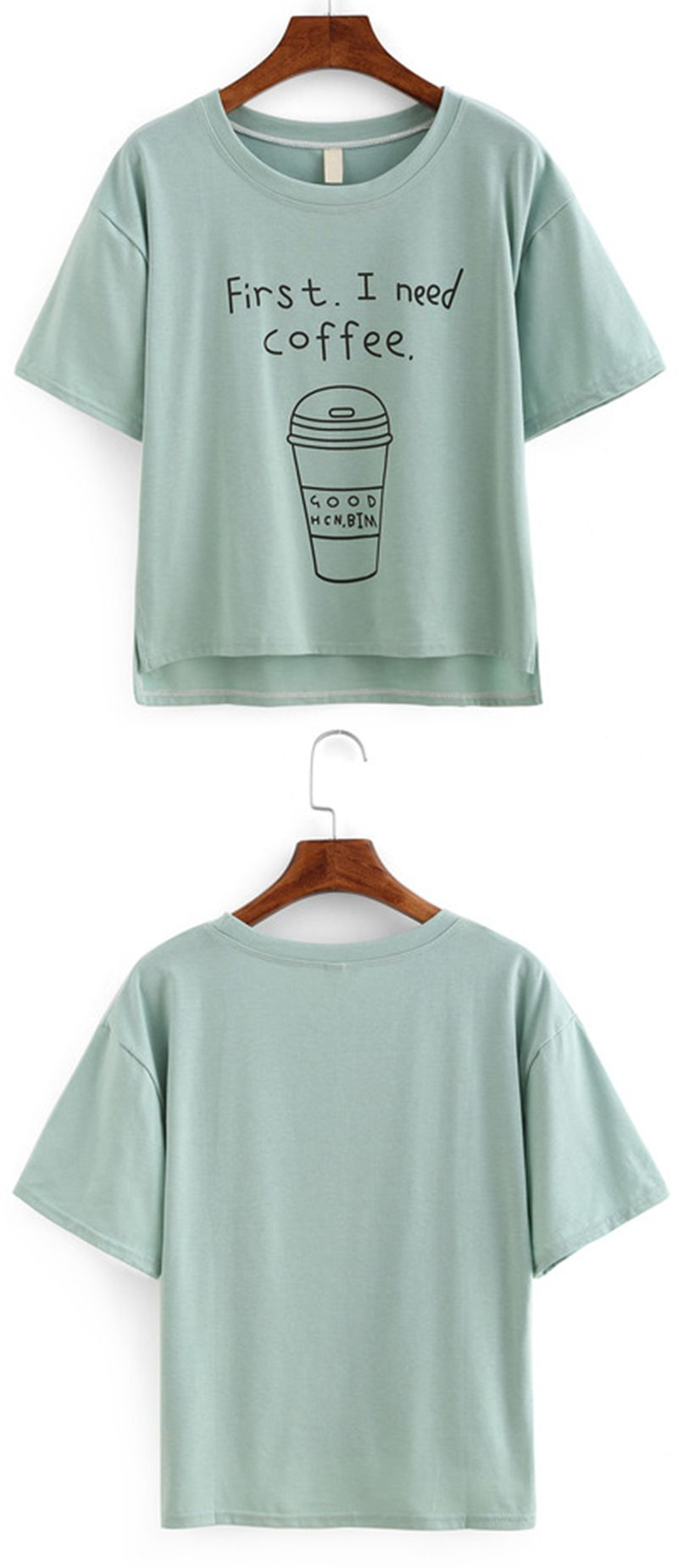 WHERE IS MY COFFEE WOMENS T SHIRT COTTON CUTE FUNNY OUTFIT BARISTA STREET STYLE