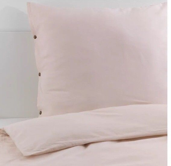 Ikea Vägtistel 155x220cm Bettwäsche Leinen Baumwolle Bett Decke Neu