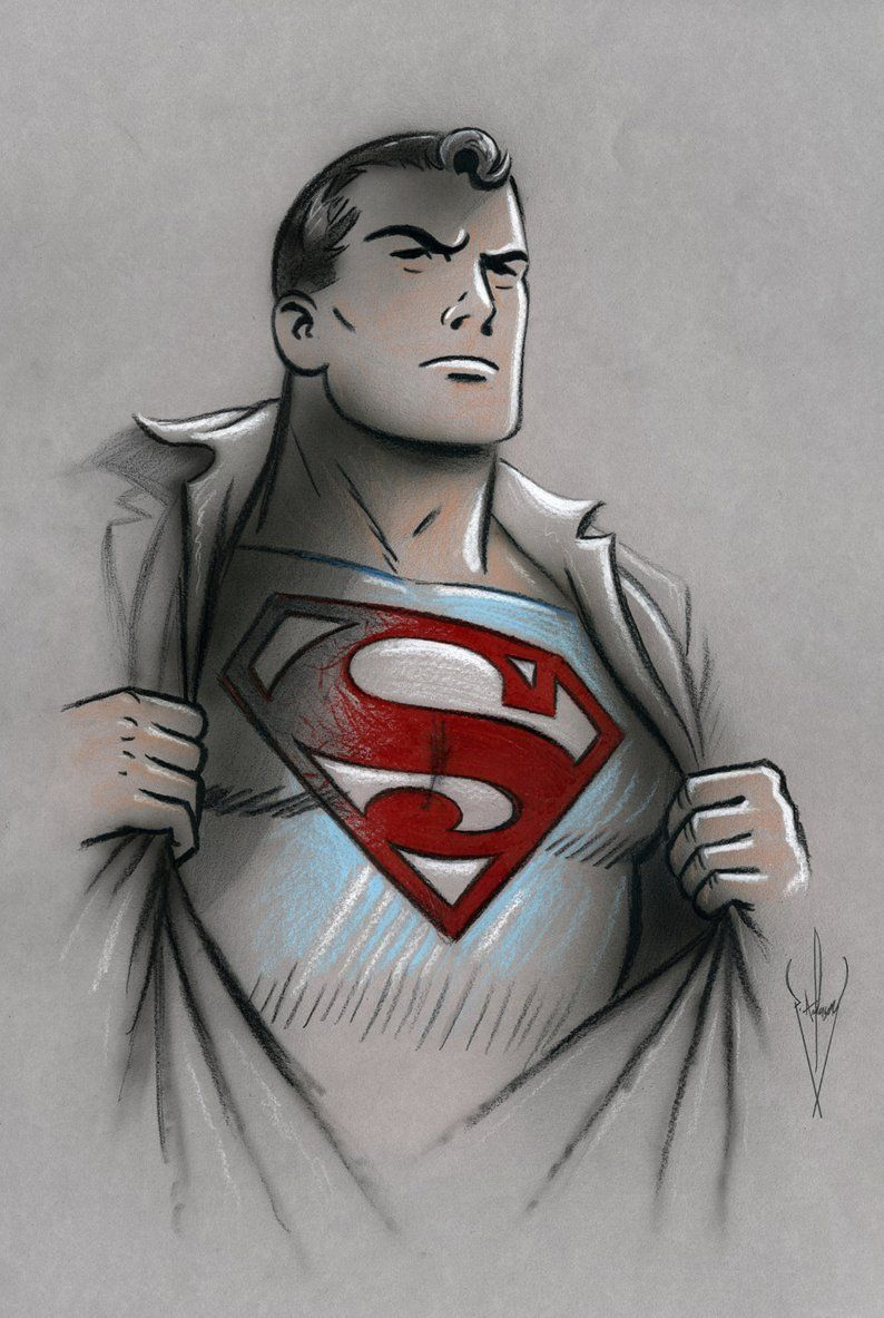 Classic Retro Style Superman Pencil Airbrush Drawing 12 Etsy Superman Art Drawing Superman Artwork Superman Art Another free cartoons for beginners step by step drawing video tutorial. superman art drawing superman artwork