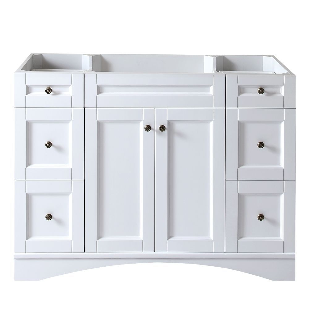 Bathroom sink cabinets white - Virtu Usa Elise 48 Inch White Single Sink Cabinet Only Bathroom Vanity By Virtu Usa