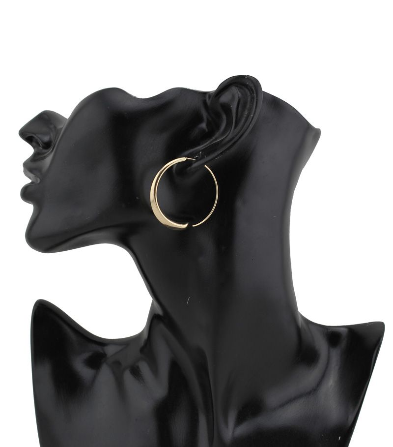 """2015 새로운 핫 판매 도매 많은 여성 패션 반짝이 골드/실버 톤 귀걸이 1.4 """"X 1.4"""" 후프 스터드 여자 레이디 ZZZ"""