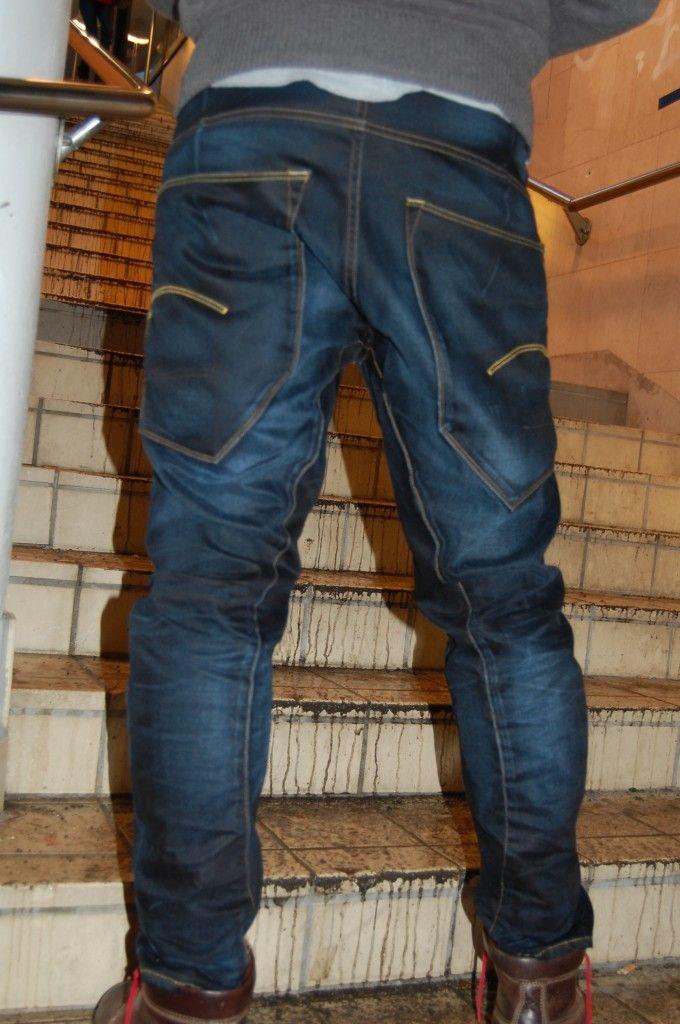 Mens Raw Denim Jeans