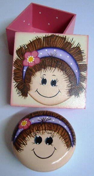 Mini Caixa com sabonete pintado