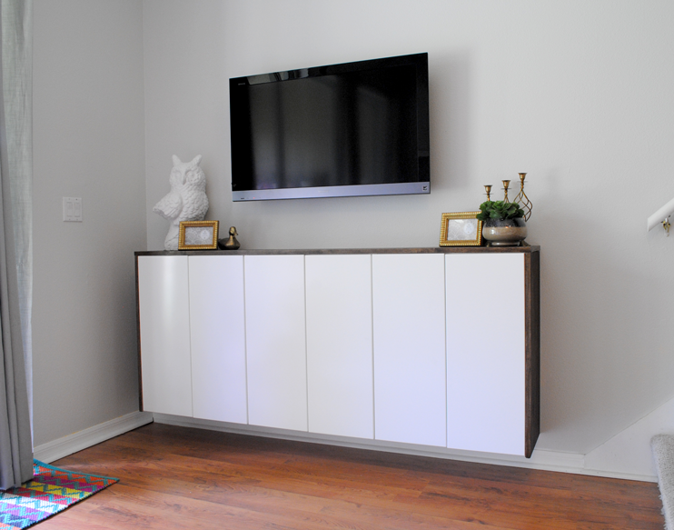 Floating Credenza Ikea Hack : Ikea besta console floating credenza table
