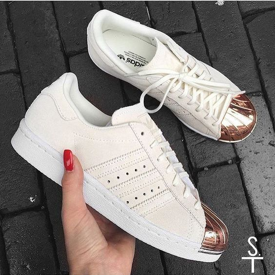 Innovation Adidas Superstar Femme Metal Toe Blanche, Rose Gold X En ligne