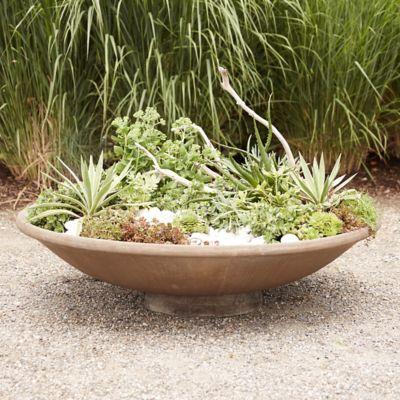Cast Stone Shallow Bowl Planter Large Plant Pots Large Bowl Planters Shallow Planters