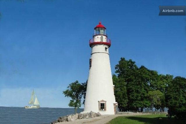 Beautiful Marblehead Lighthouse, oldest working lighthouse on the Great Lakes.