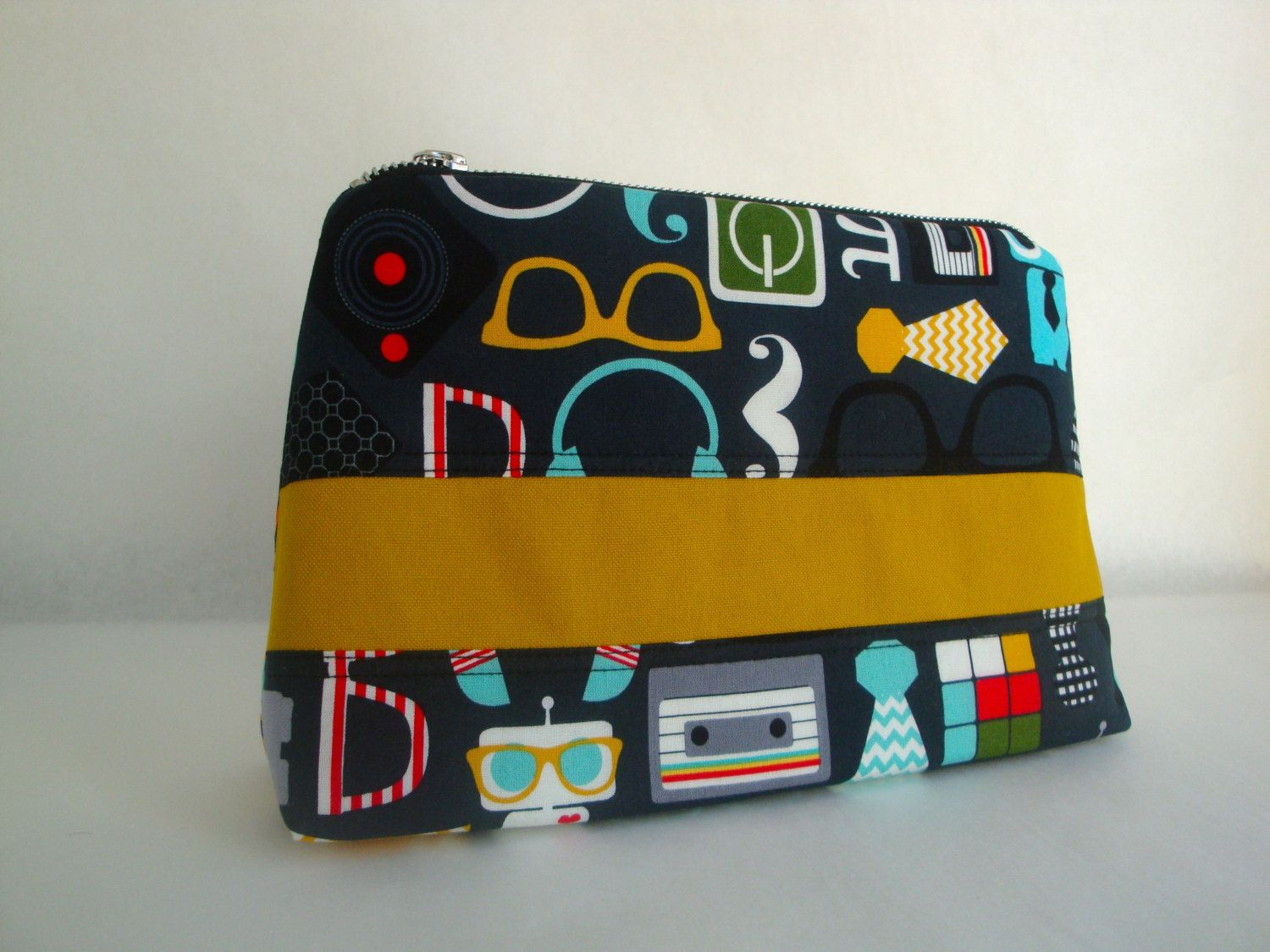 5d6cf364bc Mens funky cotton Wash Bag - handmade - toiletry bag - gift- boys wash bag  - unique mens wash bag by GerdaBags on Etsy