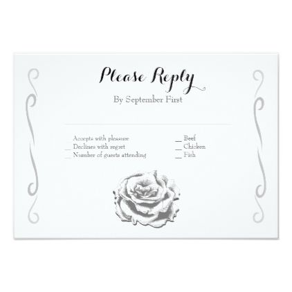 Minimalist elegant vintage rose wedding rsvp card minimalist elegant vintage rose wedding rsvp card wedding invitations cards custom invitation card design marriage stopboris Gallery
