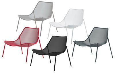 Low armchair Round by Emu - Metal | Made In Design UK ...