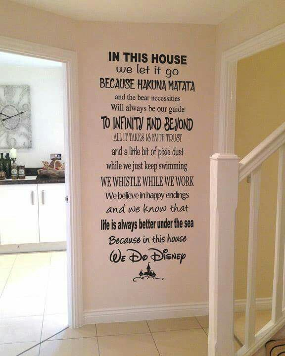 i need this! in this house, we do disney. great children's wall