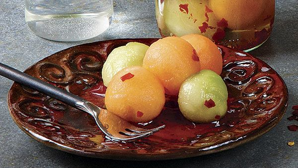 Sweet, Sour, and Spicy Pickled Melon #melonrecipes