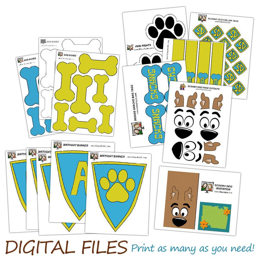 Scooby Doo Birthday Party DIGITAL Party Printables banner