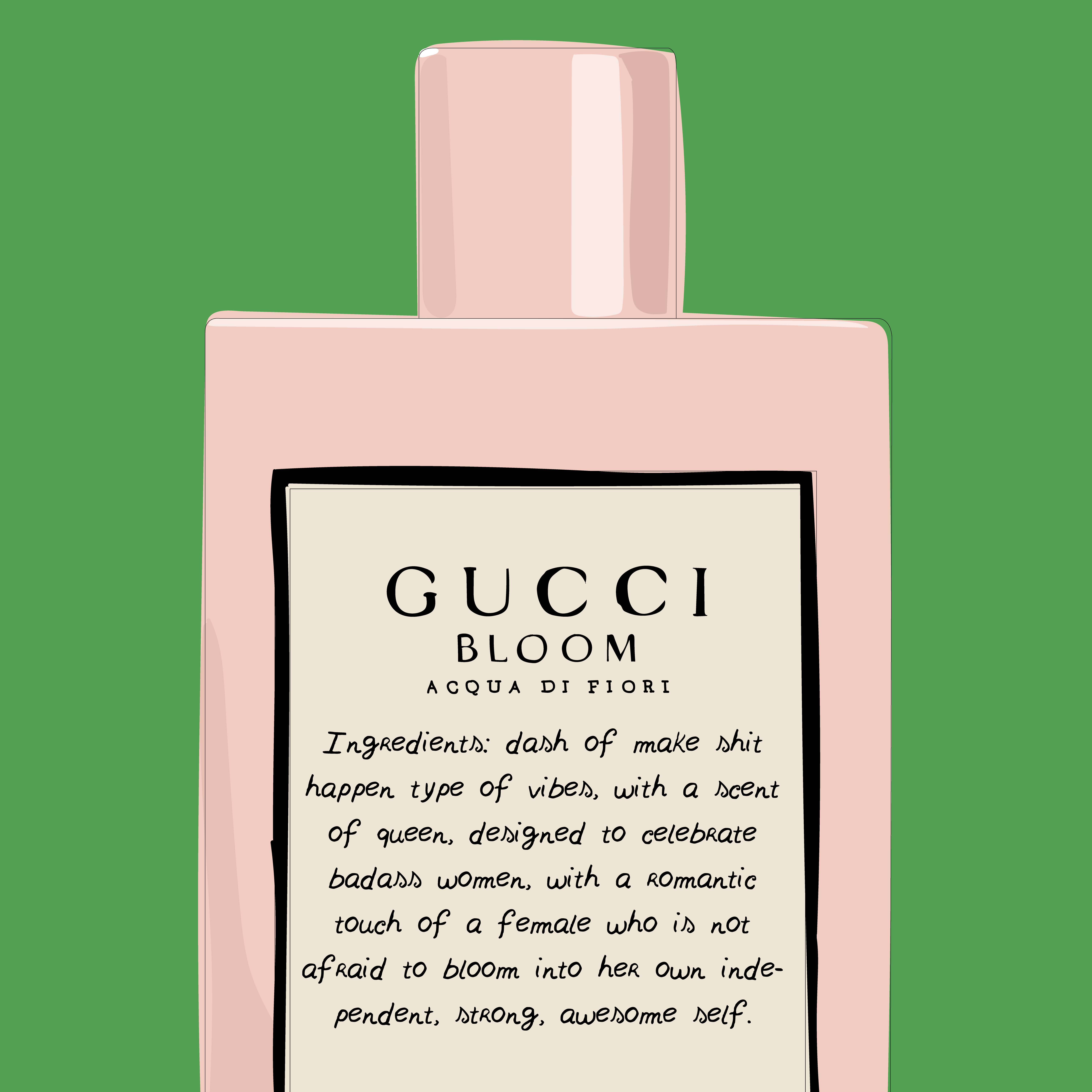 Gucci Bloom Digital Illustration By Claudia Argueta Check Out More Of Her Work On Vibesbyclaudia On Ig Fashion Fas Nyc Blogger La Bloggers Photo And Video