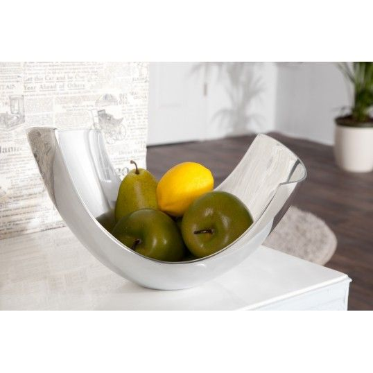 Looks like the white bjt off the shoe. Abstract design fruit bowl 30cm aluminium basket