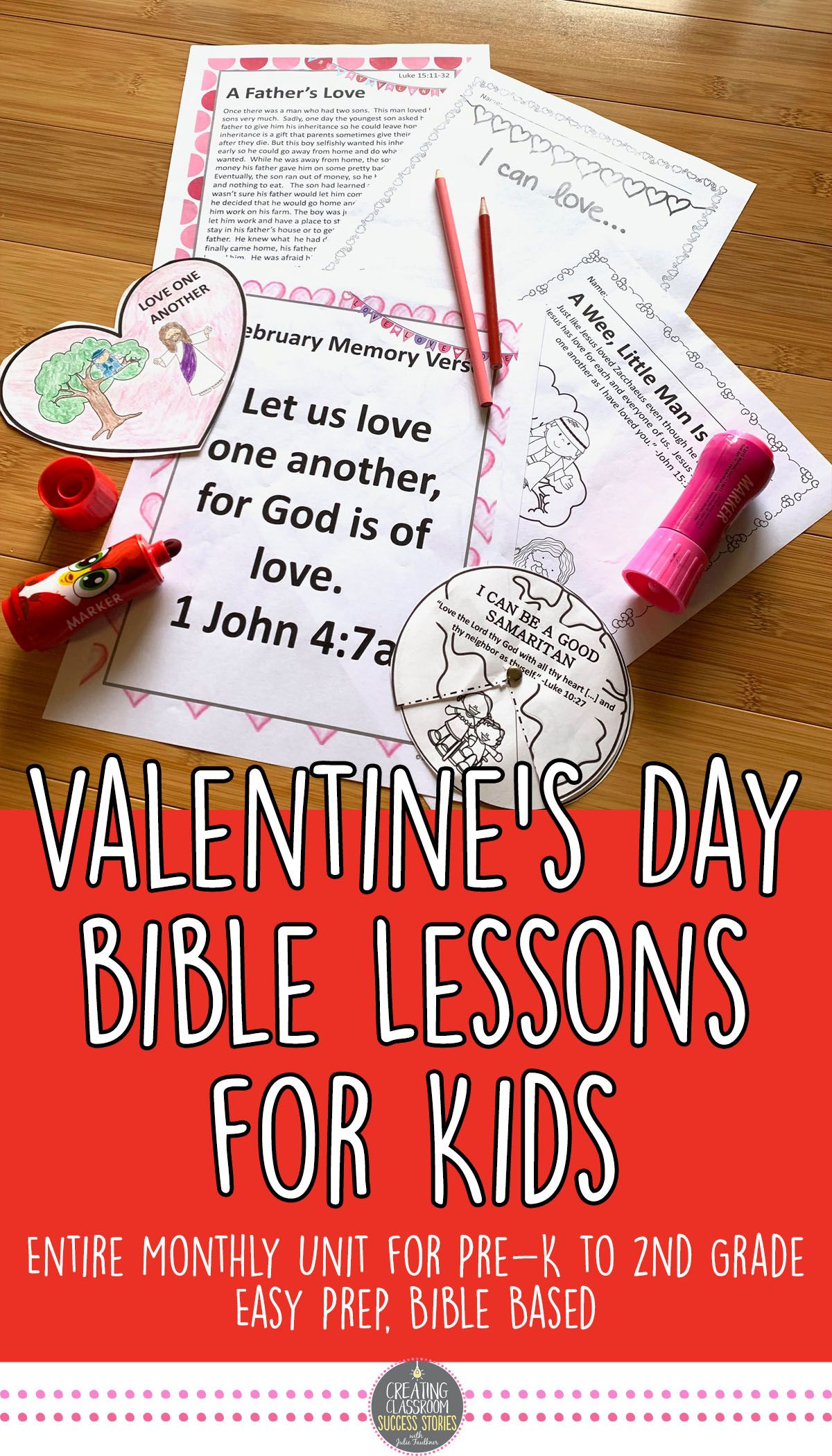 Valentine S Day Bible Lessons For Kids Valentine S Day Bible Activities For Kids Bible Crafts