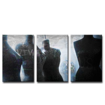 "Ready2hangart Urban Fashion X 3 Piece Graphic Art on Canvas Set Size: 30"" H x 20"" W"