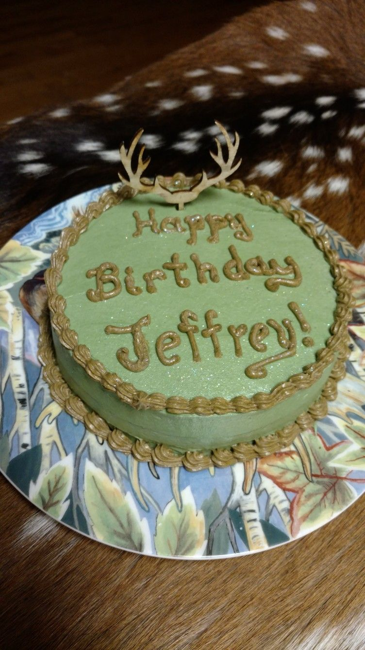 Deer Antler Birthday Cake My Stuff Pinterest