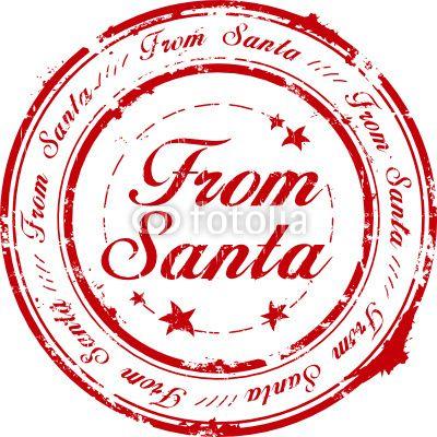 From Santa Stamp Santa Stamp Christmas Lettering Christmas Labels
