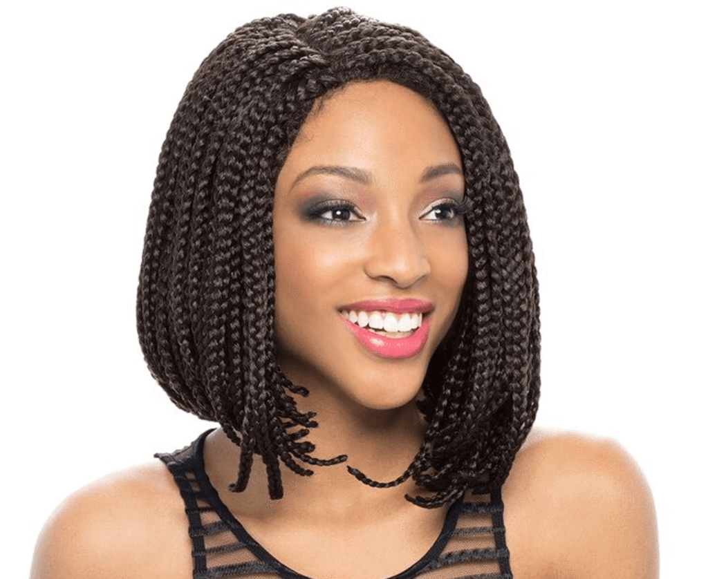 14inch bob wig synthetic lace front wig african american braided wigs short box braid wigs for. Black Bedroom Furniture Sets. Home Design Ideas