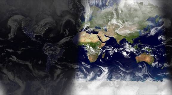 World Sunlight Map Watch The Sun Rise And Set All Over The World - World satellite map current