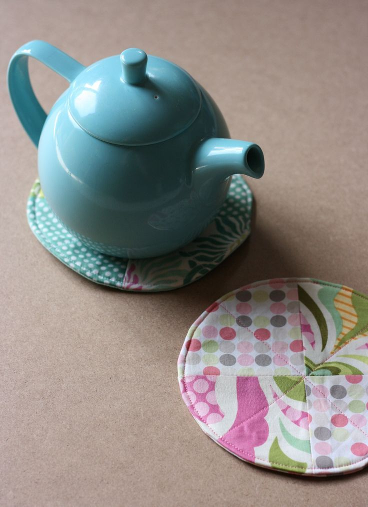 Fabric Scrap Teacup Coaster A Fabulous 30 Minute Sewing Project To Use Up Fabric…