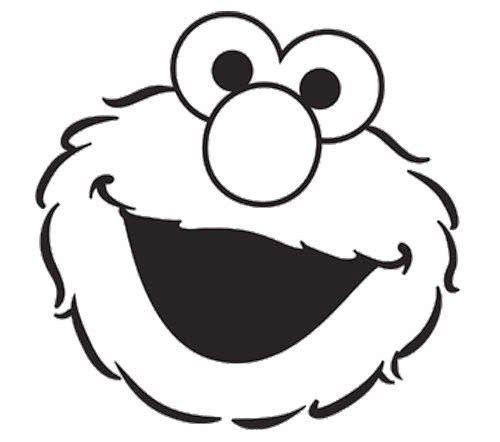 Elmo Face Coloring Page | Coloring | Pinterest | Elmo, Sesame ...