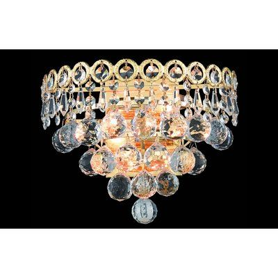 House Of Hampton Zoila 1 Light Crystal Chandelier Finish Gold Mason Jar Wall Sconce Crystal Chandelier Candle Style Chandelier