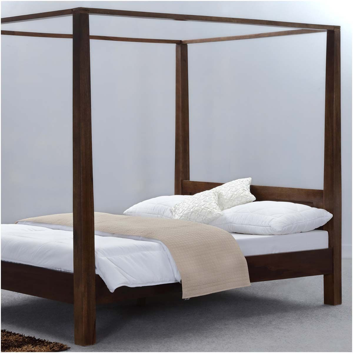 Sierra Living Concepts King Size Canopy Bed Platform Canopy Bed Modern Canopy Bed