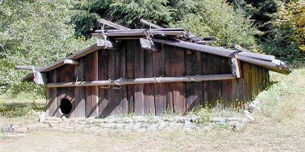 Cool Yurok Plank House At Sumeg Village Grade 3 Native Download Free Architecture Designs Embacsunscenecom