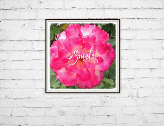 Check out this item in my Etsy shop https://www.etsy.com/listing/232751843/art-print-8x8-pink-rose-smile-quote By Jen Monson #artprint #etsy #forsale #homedecor #walldecor #smallbusiness #watercolor #wallart #inspirationalquote #flower #photography #nature #pink #smile